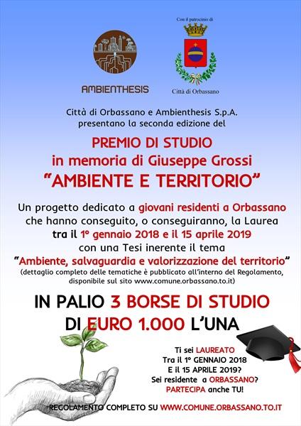 Premio di studio Ambienthesis in memoria di Giuseppe Grossi
